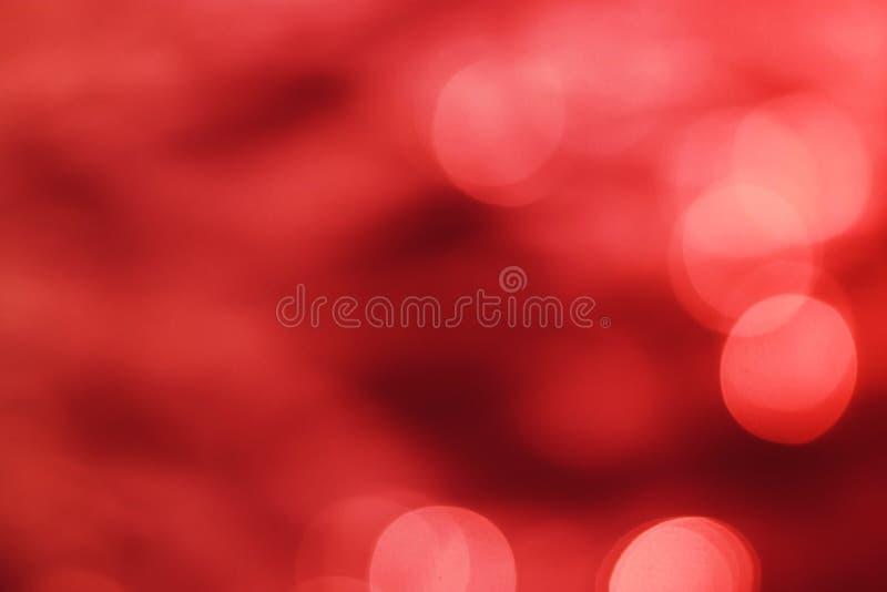 Fondo rojo oscuro del bokeh del color de la sangre del extracto fotografía de archivo