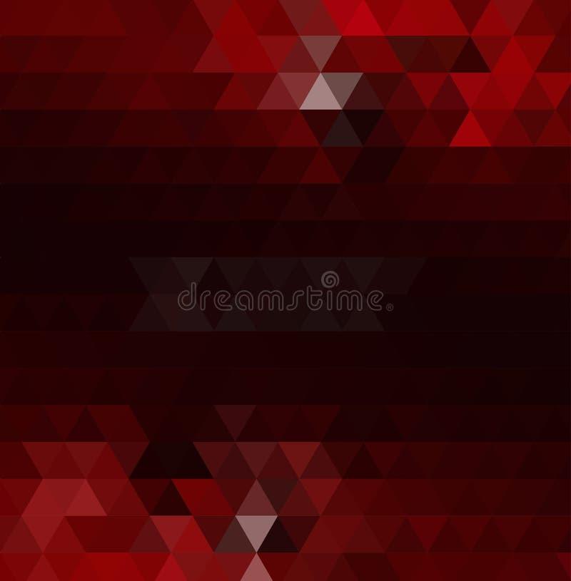 Fondo rojo oscuro del extracto del polígono Ejemplo abstracto geométrico moderno con pendiente ilustración del vector