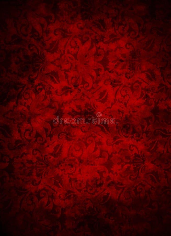 Fondo rojo oscuro profundo de la hoja del brocado ilustración del vector