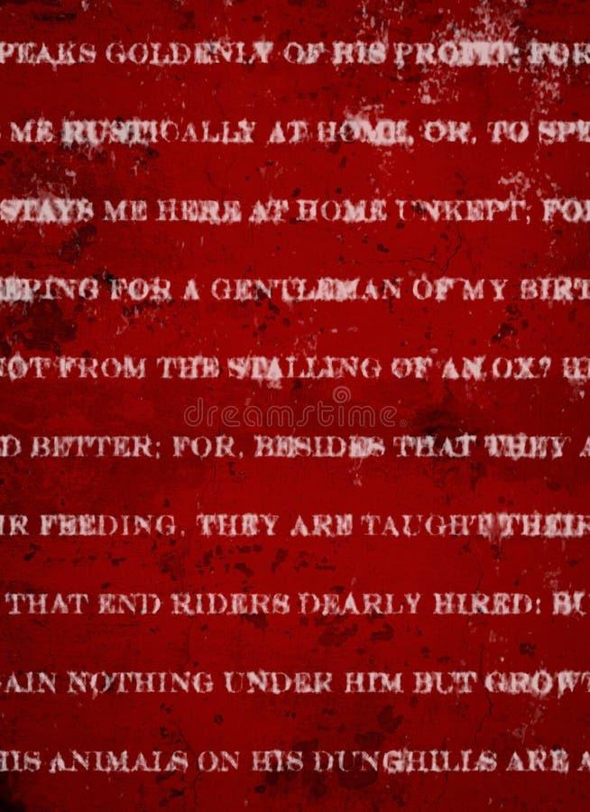 Fondo rojo oscuro profundo del Grunge con la impresión rústica blanca fotos de archivo
