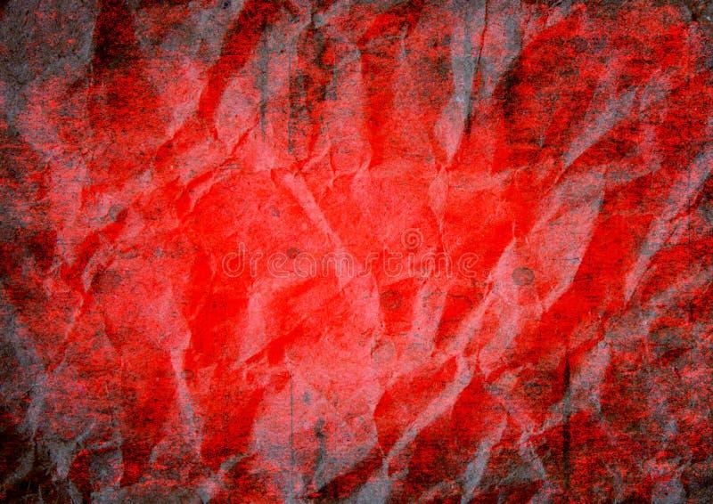 Fondo rojo sangriento del extracto del grunge de Halloween libre illustration