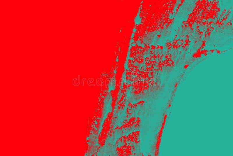 Fondo rojo verde azul de los movimientos de la brocha foto de archivo
