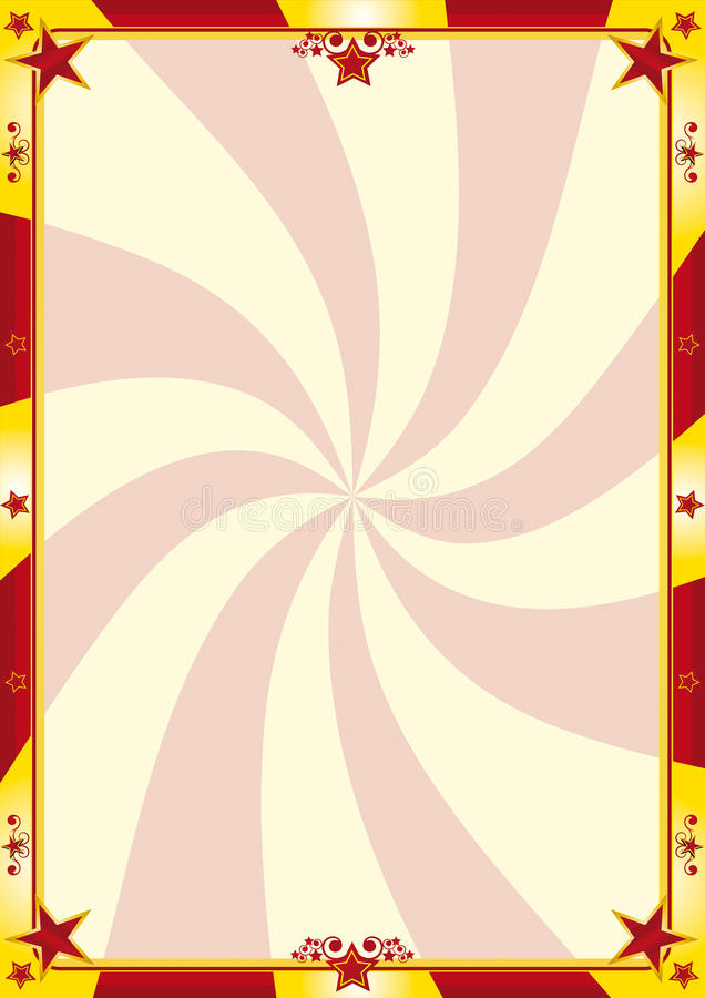 Fondo rojo y amarillo del circo ilustración del vector