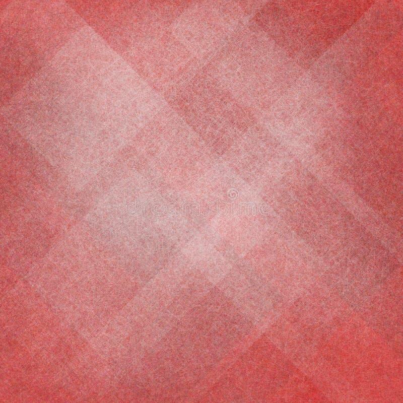 Fondo rojo y blanco abstracto con diseño del diamante y del triángulo fotos de archivo