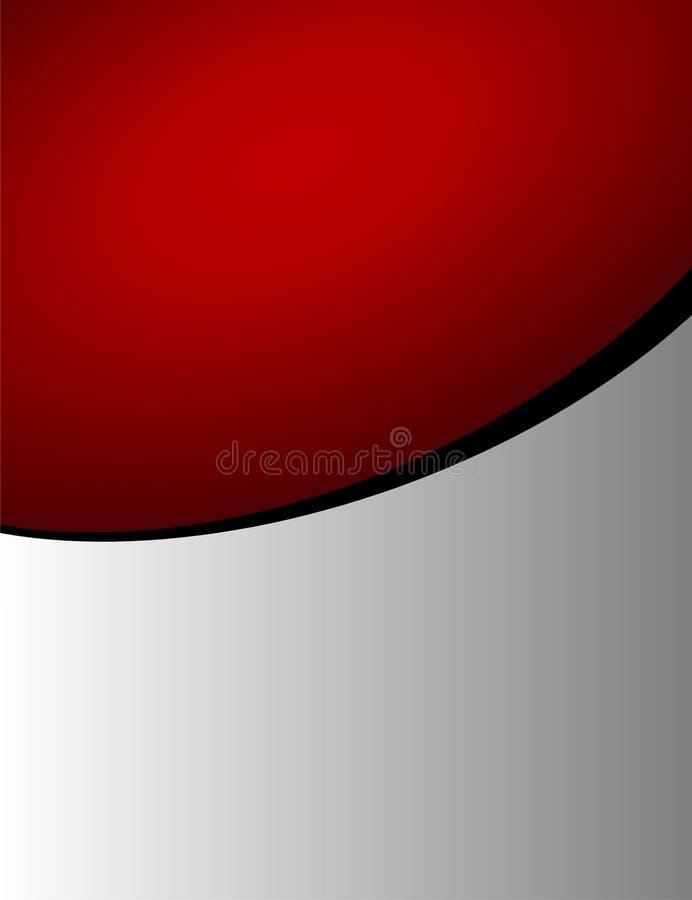 Fondo rojo y gris ilustración del vector