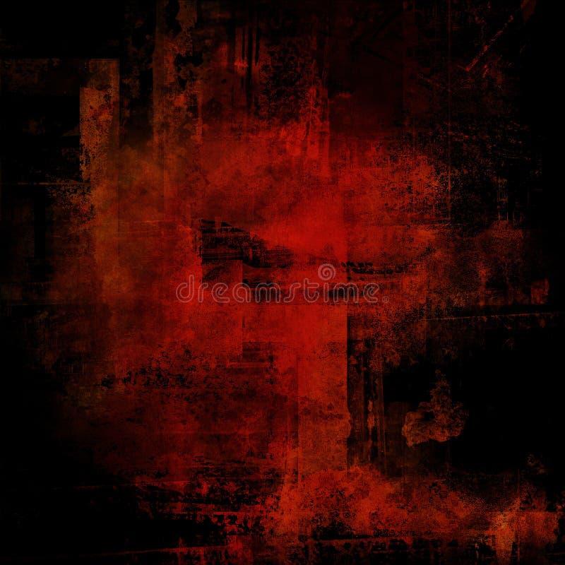 Fondo rojo y negro del Grunge imagen de archivo libre de regalías
