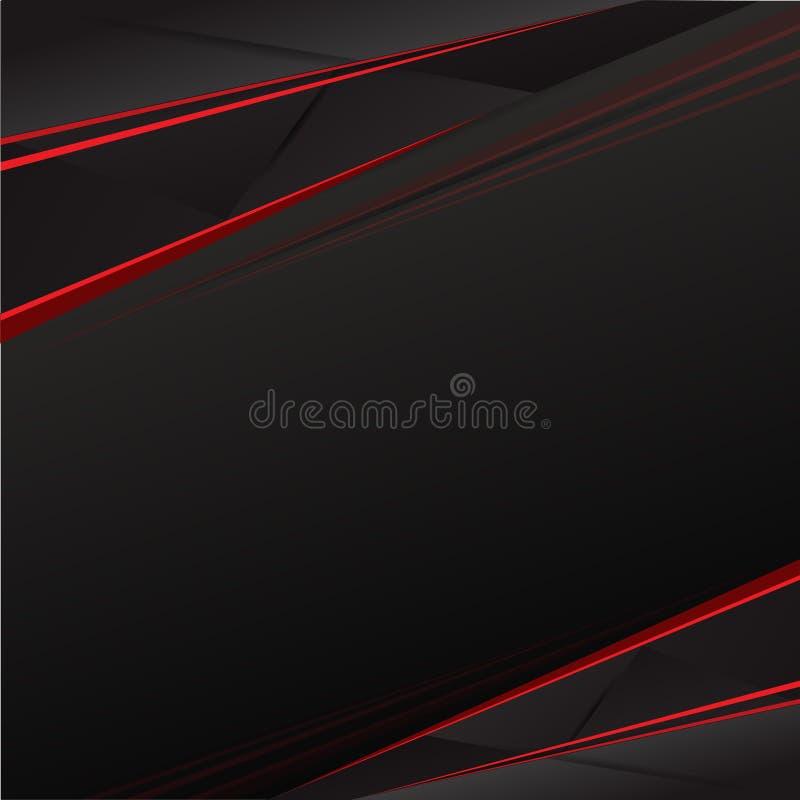 Fondo rojo y negro del resplandor solar foto de archivo libre de regalías