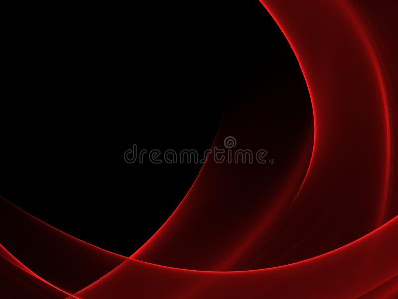 Fondo rojo y negro luminoso abstracto stock de ilustración