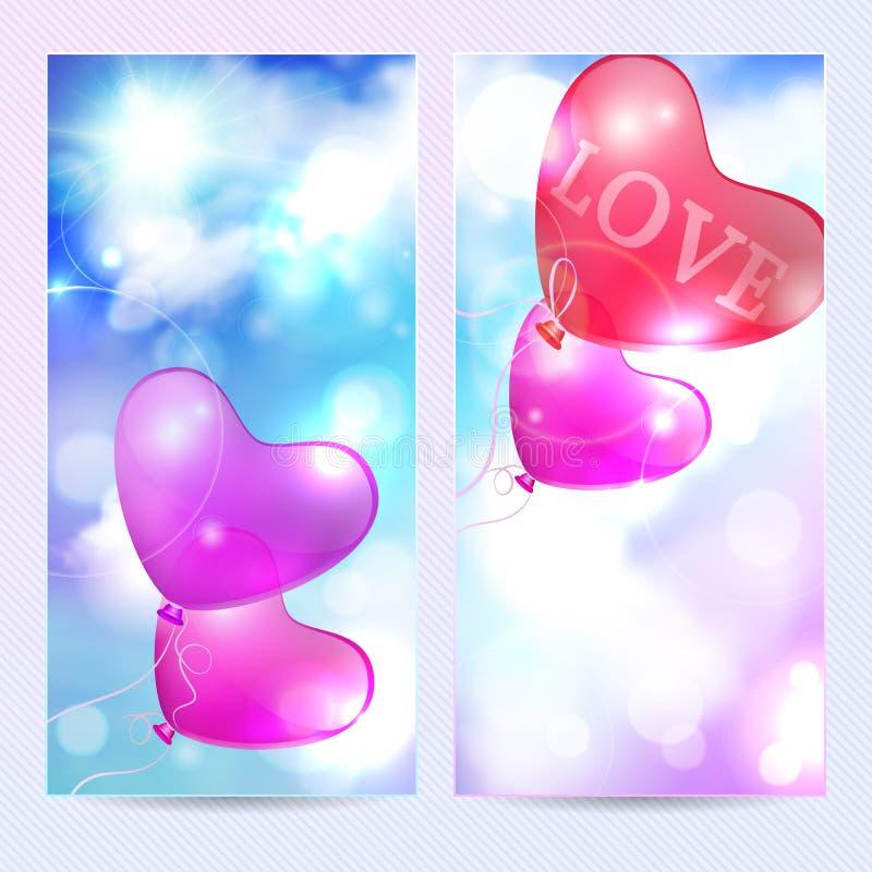 fondo romántico ilustración del vector