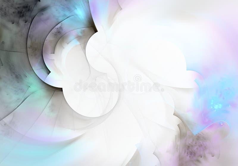 Fondo romántico abstracto del efecto de la acuarela ilustración del vector