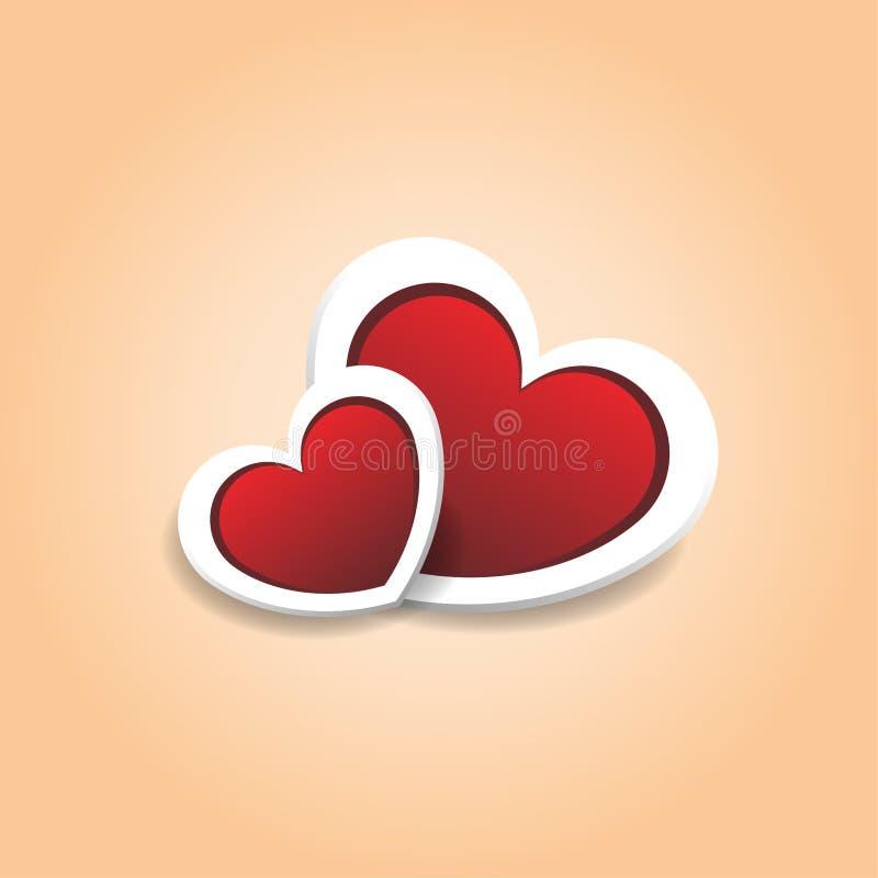 Fondo romántico de dos corazones libre illustration