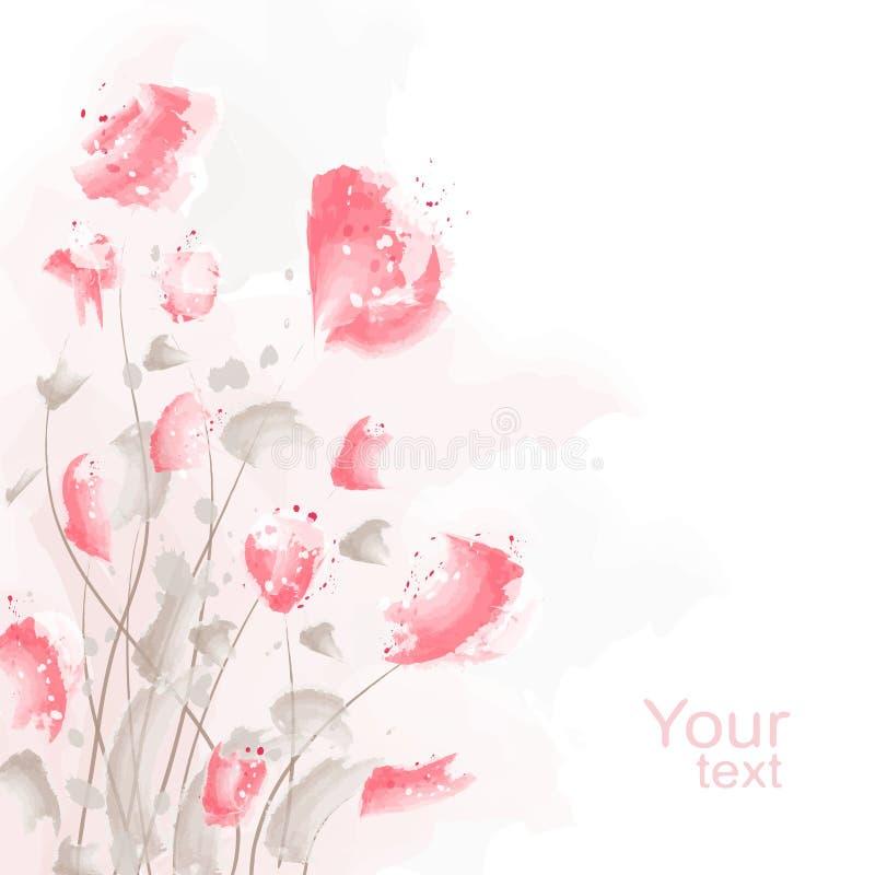 Fondo romántico de la flor ilustración del vector