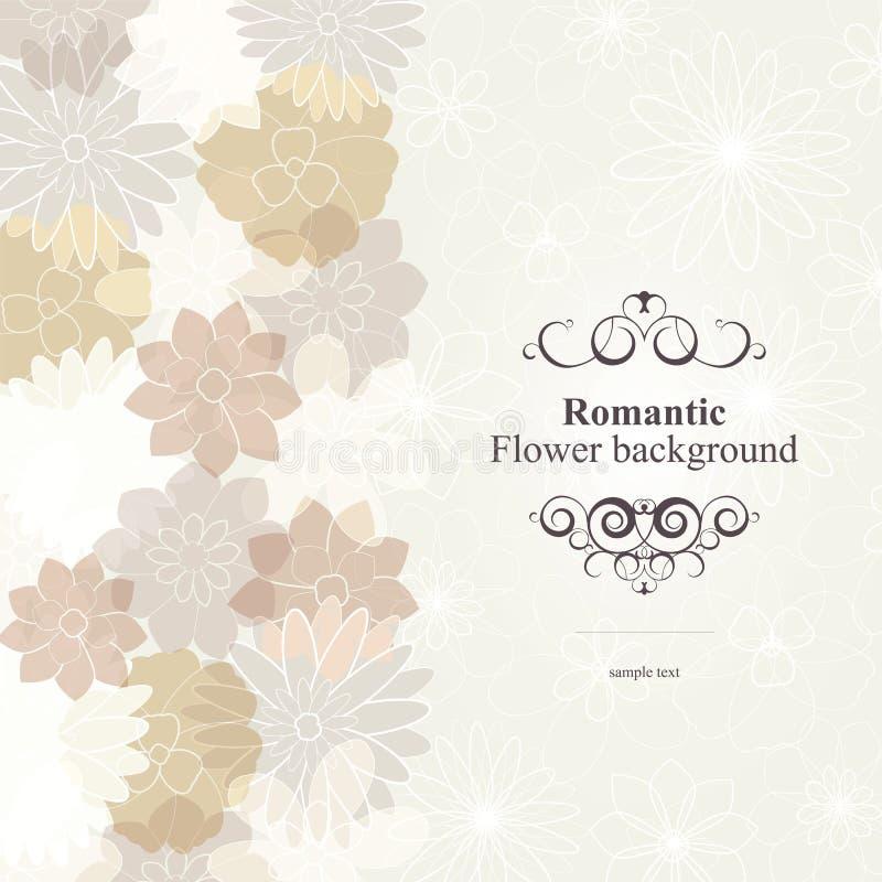 Fondo romántico de la flor stock de ilustración