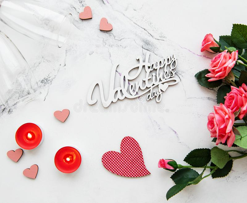 Fondo romántico del día de San Valentín fotos de archivo