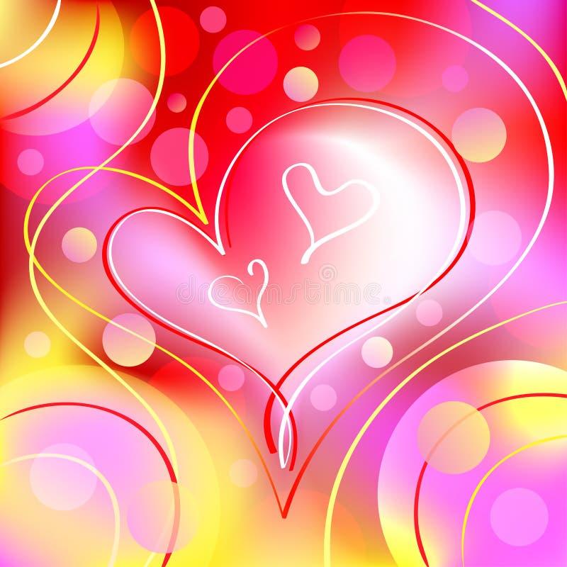 Fondo romántico hermoso del corazón ilustración del vector