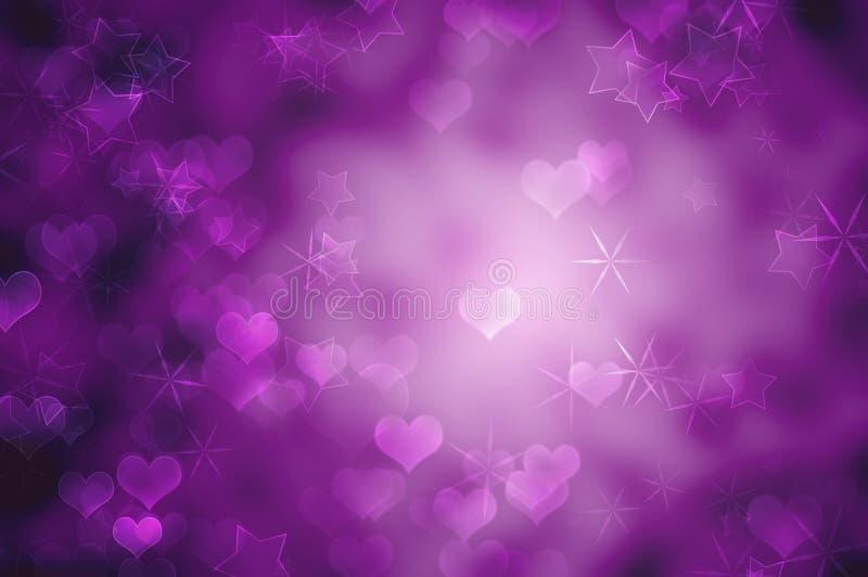 Fondo romántico púrpura imágenes de archivo libres de regalías