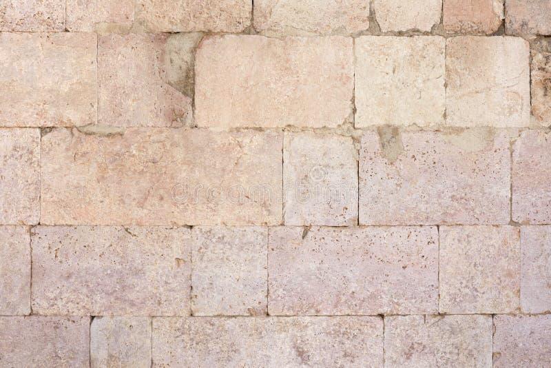 Fondo romano antiguo de la textura de la pared de piedra imágenes de archivo libres de regalías