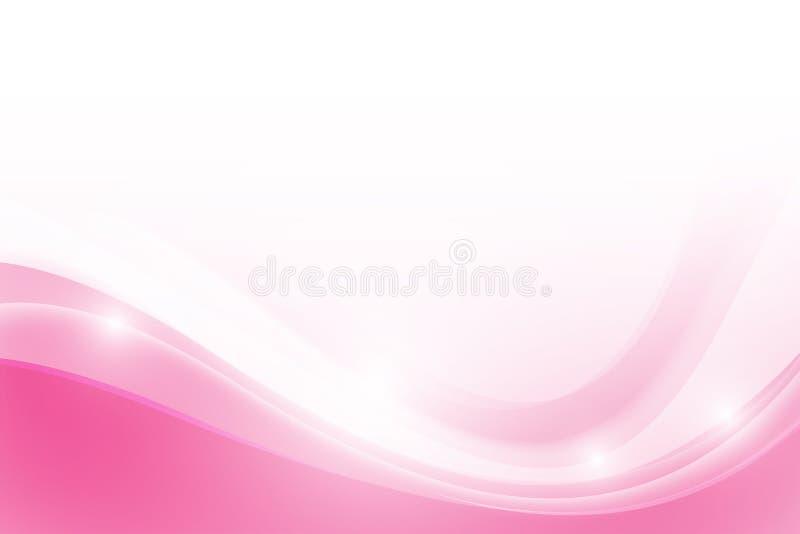 Fondo rosa astratto con semplicemente l'elemento di illuminazione della curva illustrazione vettoriale