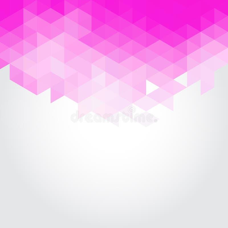 Fondo rosa astratto di vettore della geometria dei triangoli immagini stock