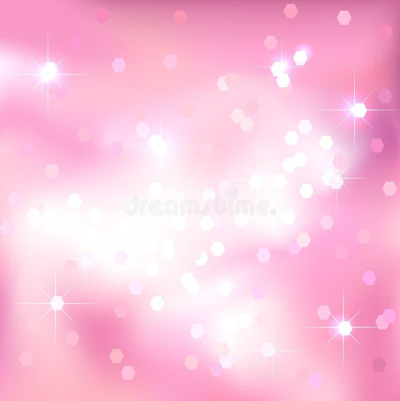 Fondo rosa-chiaro luminoso Disegno festivo royalty illustrazione gratis