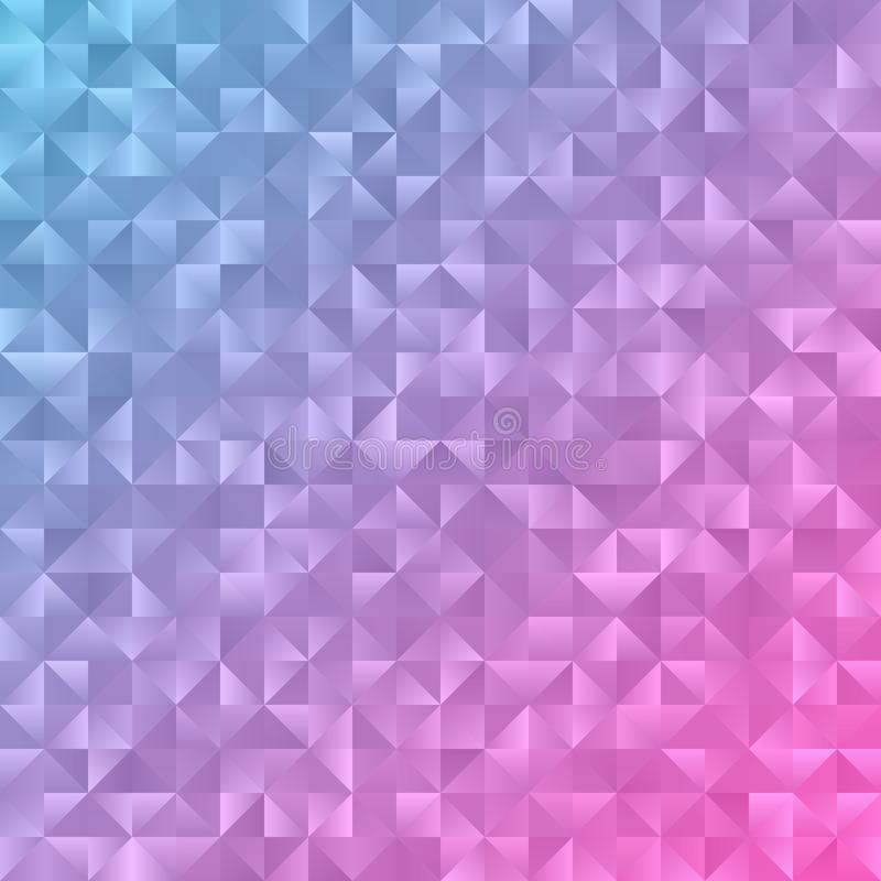 Fondo rosa claro, azul del extracto del polígono Extracto colorido libre illustration