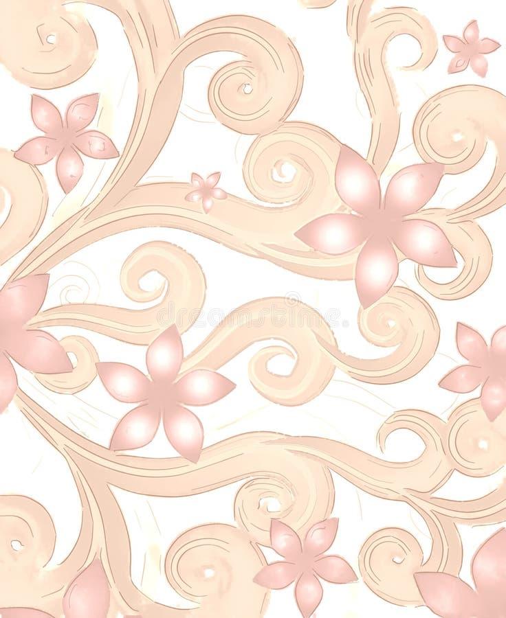 Fondo rosa claro de las flores stock de ilustración