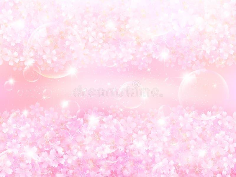 Fondo rosa dei fiori di ciliegia della primavera royalty illustrazione gratis