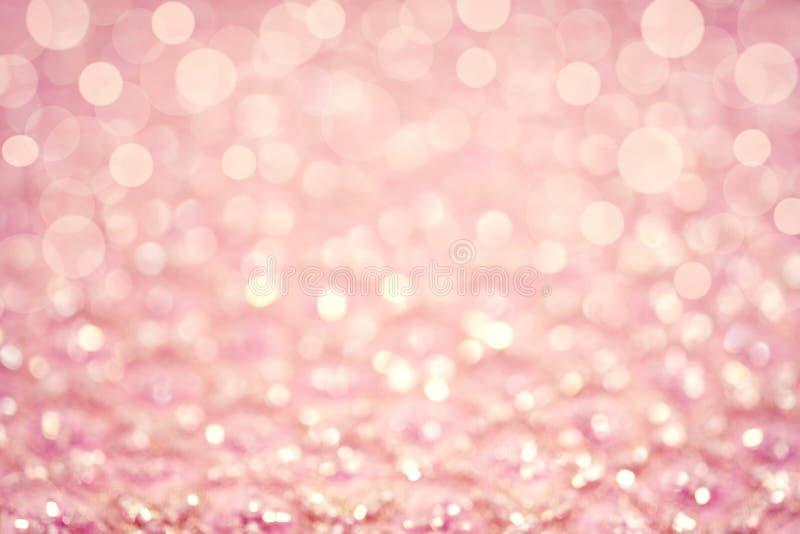 Fondo rosa del bokeh di pendenza immagini stock