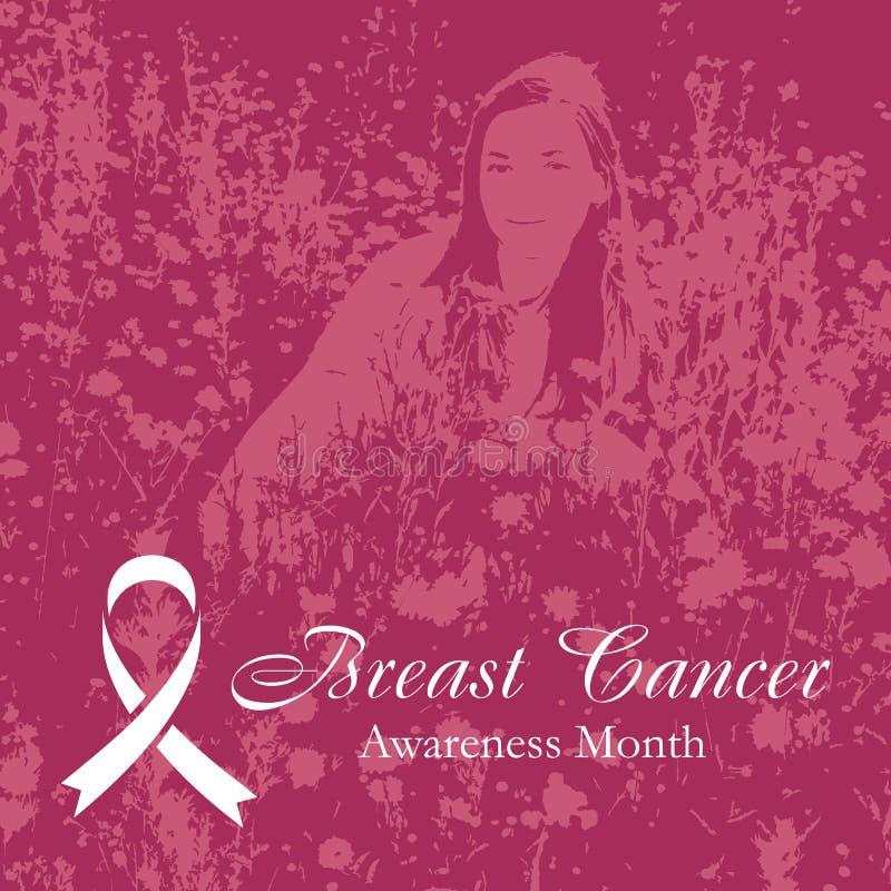 Fondo rosa del cancro al seno illustrazione di stock