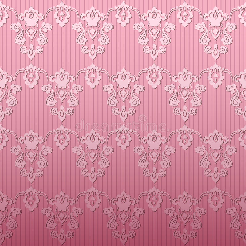 Fondo rosa del damasco royalty illustrazione gratis