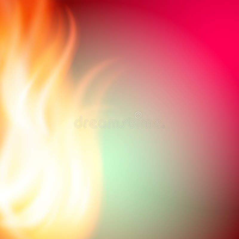 Fondo rosa del fuoco di verde dell'estratto per la vostra progettazione illustrazione di stock