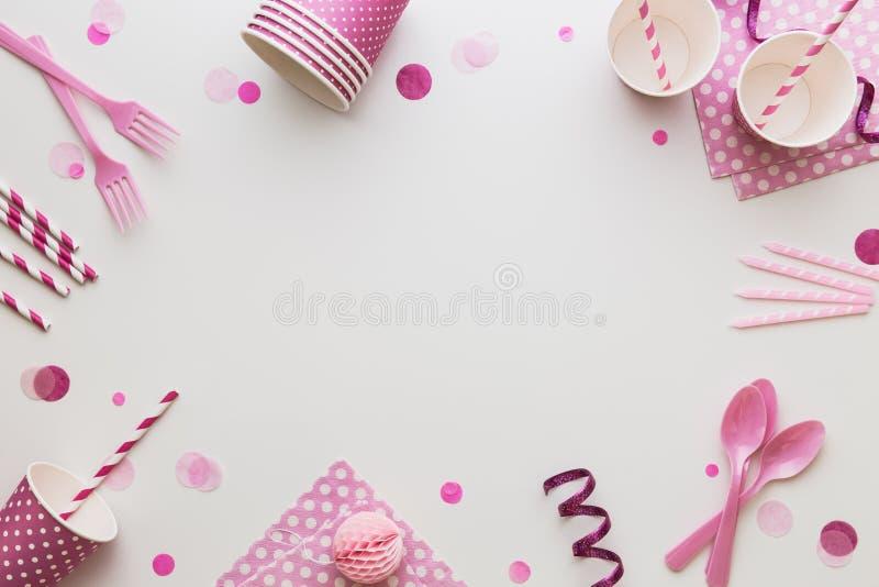 Fondo rosa del partito fotografie stock