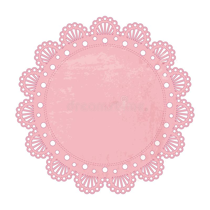 Fondo rosa del tovagliolo illustrazione di stock