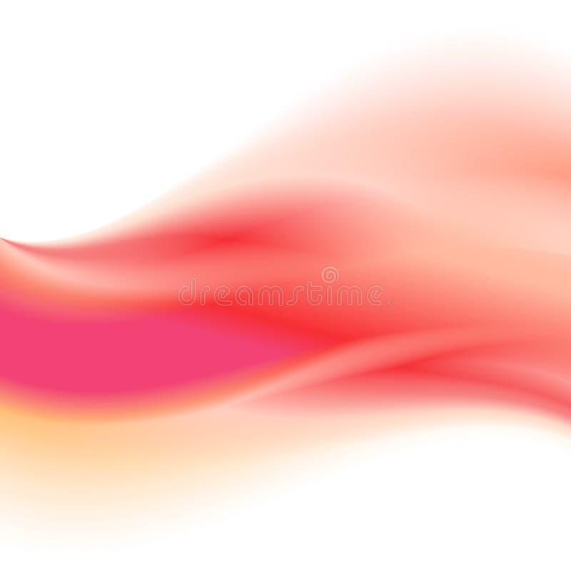 Fondo rosa dell'onda dell'estratto di pendenza con la transizione di colori per materiale illustrativo illustrazione di stock
