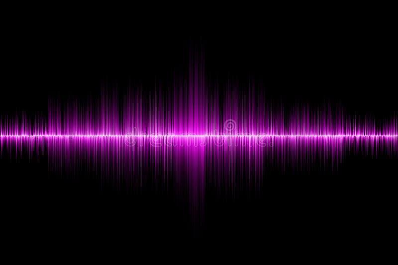 Fondo rosa dell'onda sonora fotografia stock libera da diritti