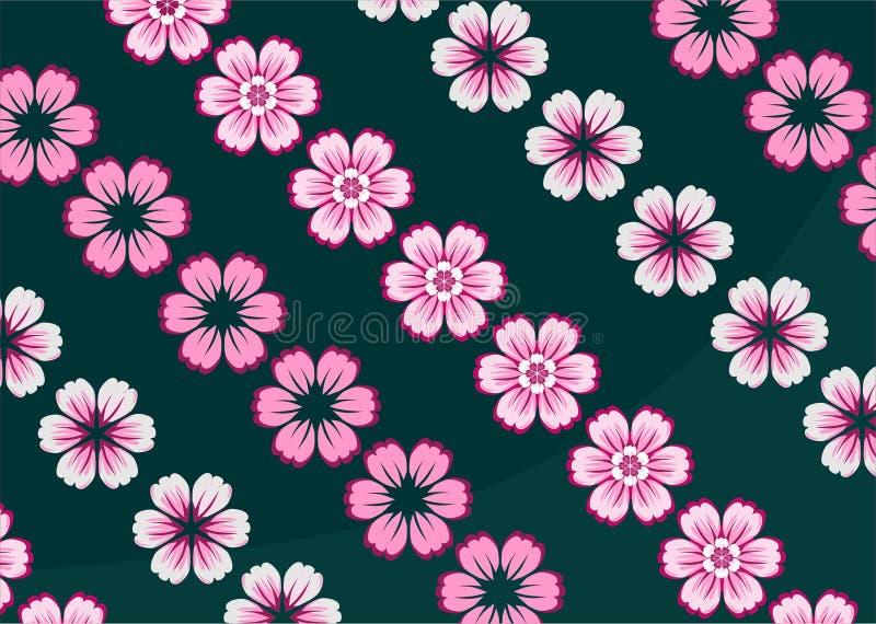 Fondo rosa dell'ornamento dei fiori royalty illustrazione gratis