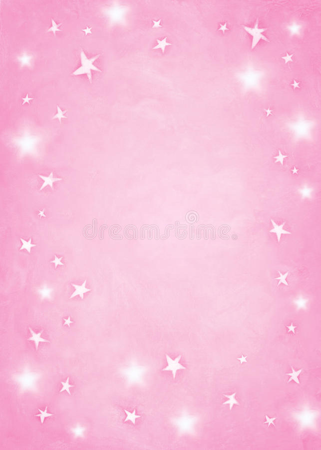 Fondo rosa della stella. illustrazione vettoriale