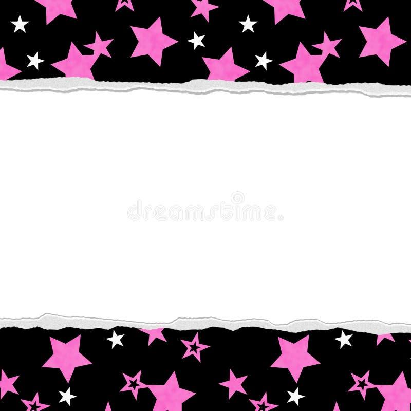 Fondo rosa della stella per il vostro messaggio o invito royalty illustrazione gratis
