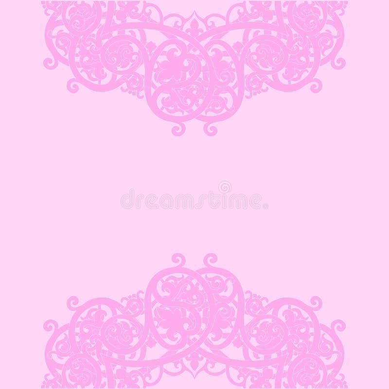 Fondo rosa Illustrazione di vettore fotografie stock libere da diritti