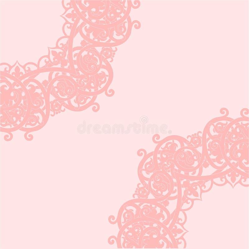 Fondo rosa Illustrazione di vettore immagine stock libera da diritti