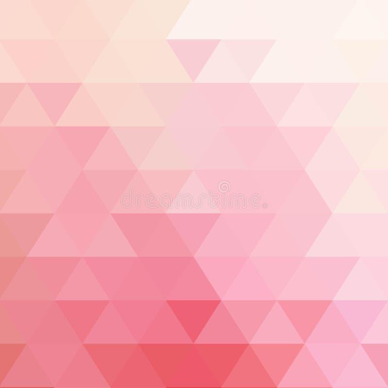 fondo rosado abstracto con vector del modelo del tri?ngulo ilustración del vector