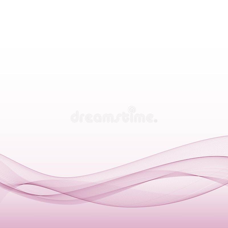 Fondo rosado abstracto de la onda Ilustración del vector Disposición para hacer publicidad ilustración del vector
