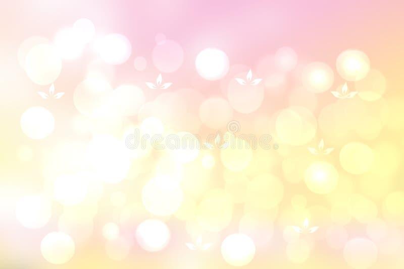 Fondo rosado abstracto de la primavera o de la flor del verano Fondo brillante abstracto de la flor con las flores rosadas hermos stock de ilustración