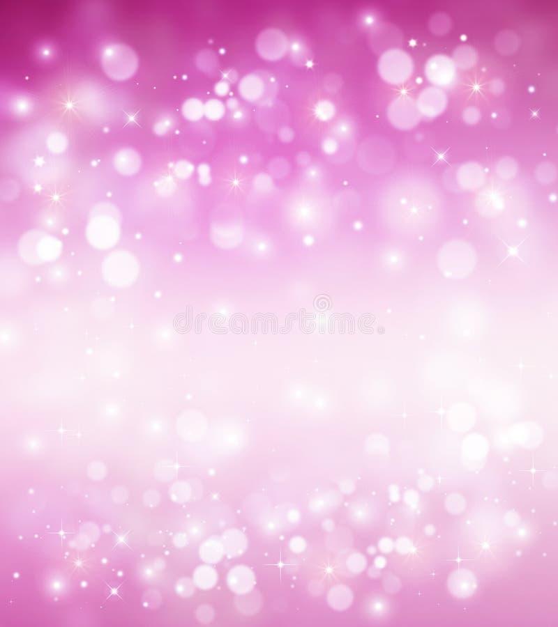 Fondo rosado abstracto de las luces con las estrellas libre illustration