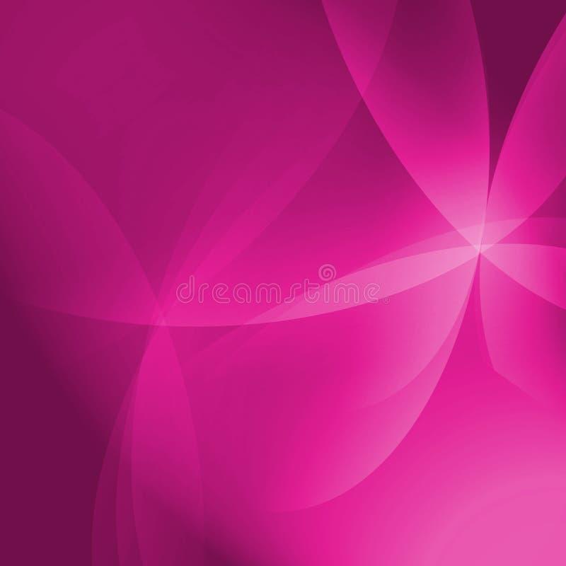 Fondo rosado abstracto de Vista de la curva ilustración del vector