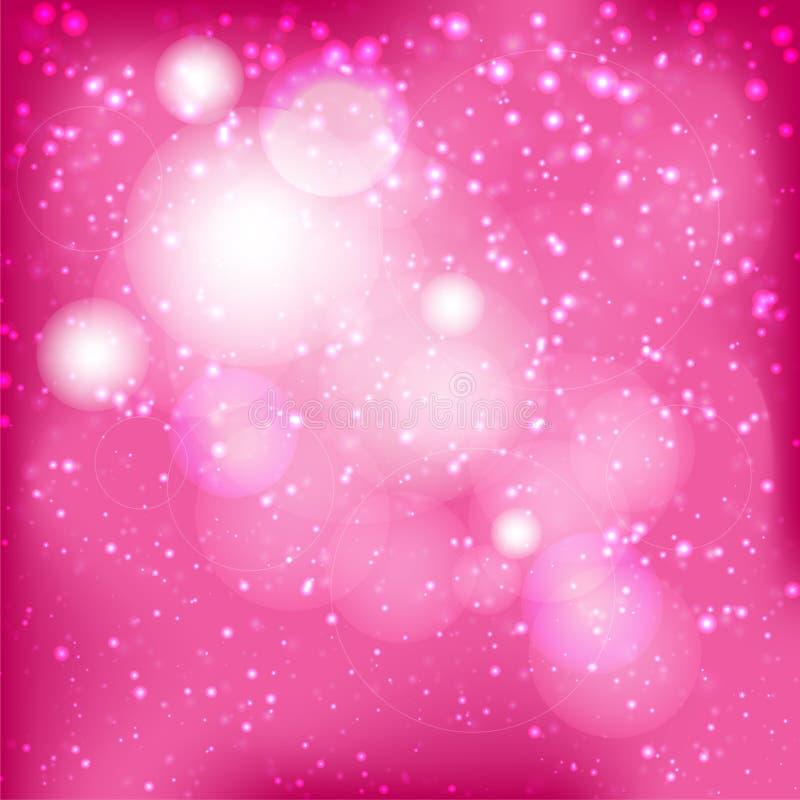 Fondo rosado abstracto del bokeh imágenes de archivo libres de regalías