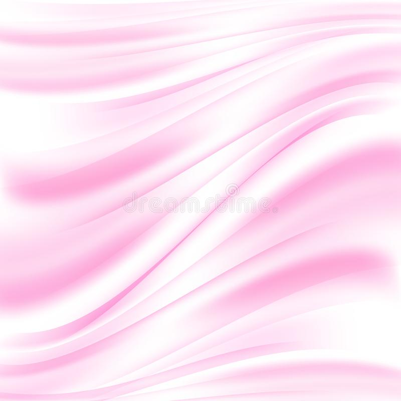 Fondo rosado abstracto del vector Suavemente ondas del rosa Ondas que fluyen de la tela stock de ilustración