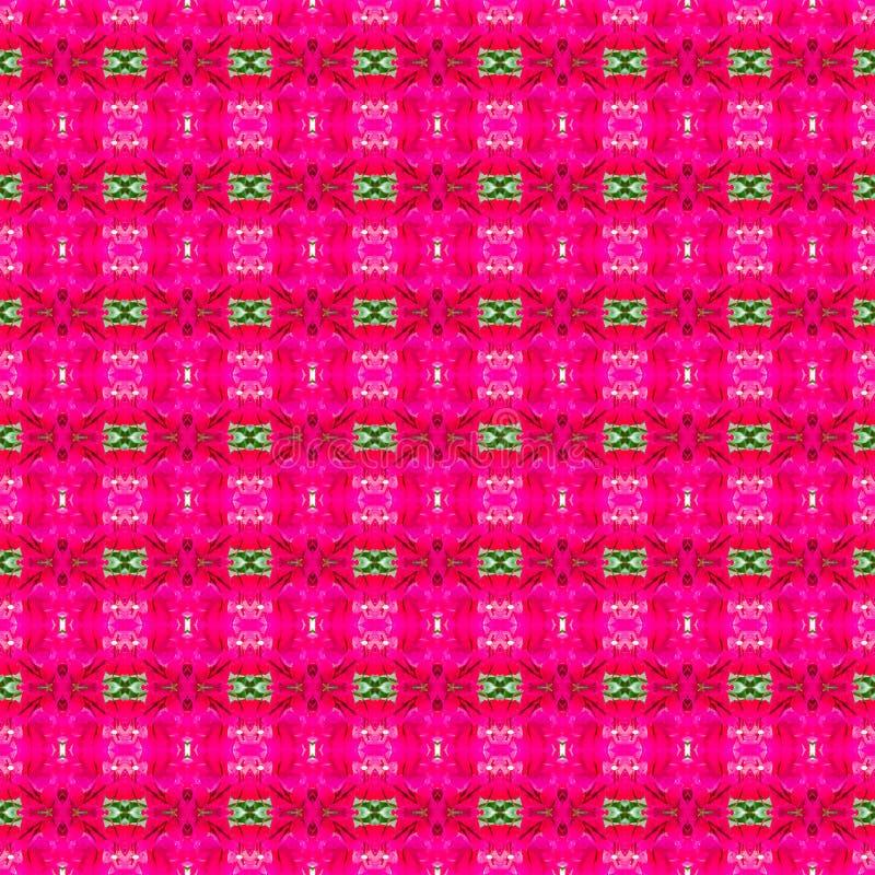 Fondo rosado abstracto y modelo inconsútil colorido fotos de archivo