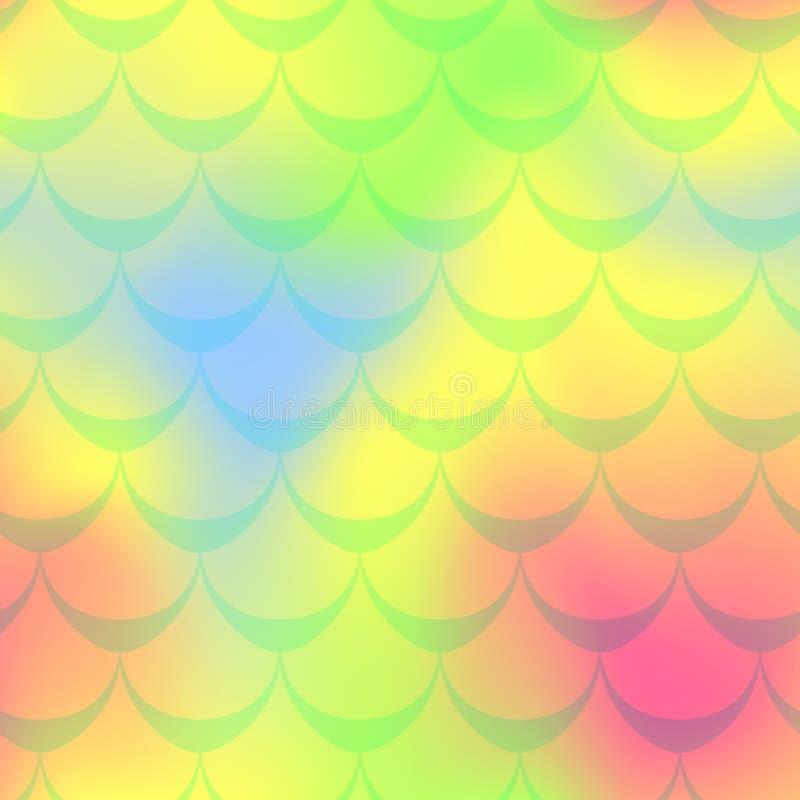 Fondo rosado amarillo de la sirena Fondo iridiscente multicolor ilustración del vector