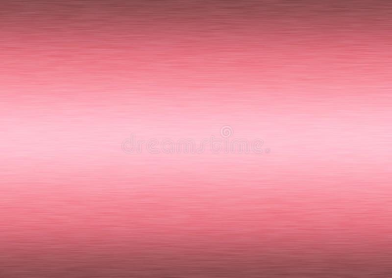 Fondo rosado cepillado extracto de la superficie de metal imagenes de archivo